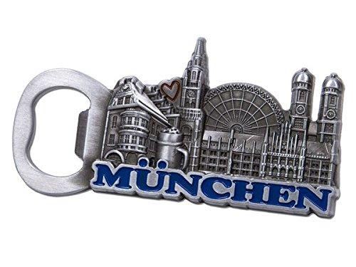"""Flaschenöffner \""""München\"""" aus Metall, silberfarben"""