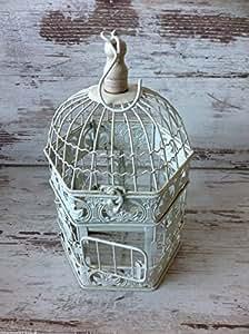 Pot de fleurs en forme de Cage à oiseaux décorative Style lanterne de Style Shabby Chic rétro