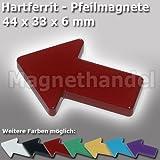 5 Pfeil Magnete - Pinnwandmagnete Pfeile Ferrit - rot