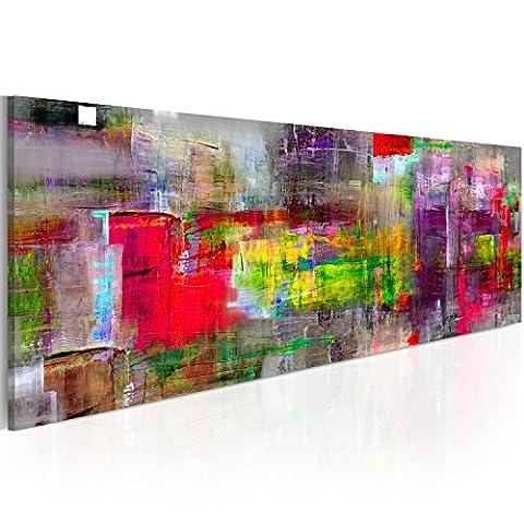 Bilder 135x45 cm - 3 Farben zur Auswahl - XXL Format - Fertig Aufgespannt – TOP - Vlies Leinwand - 1 Teilig - Wand Bild - Kunstdruck - Wandbild - Abstrakt a-A-0217-b-b 135x45 cm B&D