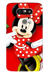 Blue Throat Mini Mouse Laughing Printed Designer Back Cover For LG G5