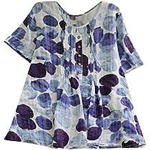 NEEKY Camisetas y Camisas Deportivas para Mujer Ropa especializada - Camisa de Manga Corta de Lino
