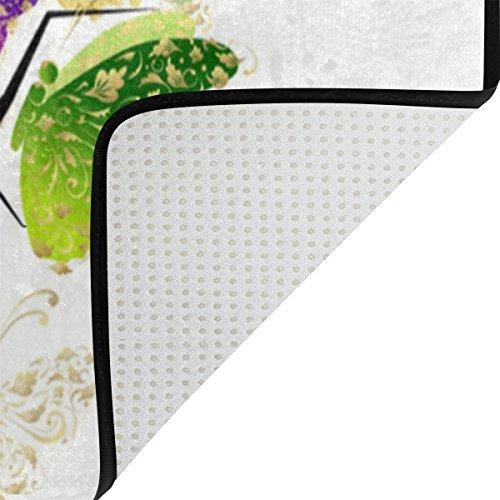 Bennigiry Kunstbaum Bereich Teppich Teppich Rutschfeste Eintrag Bodenmatte Fußmatten für Wohnzimmer Schlafzimmer 152,4 x 416 cm - 4