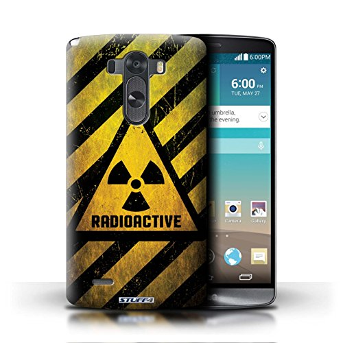 Kobalt® Imprimé Etui / Coque pour LG G3/D850/D855 / Décès/Faucheuse conception / Série Signes de Danger Radiation