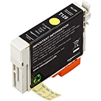 AmazonBasics Remanufactured Ink Cartridge Replacement for Epson Apple T128 Yellow