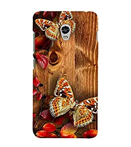 For Lenovo Vibe P1 :: Lenovo Vibe P1 Turbo :: Lenovo Vibe P1 Pro beautiful butterfly, butterfly, wood board, pattern, automn Designer Printed High Quality Smooth Matte Protective Mobile Case Back Pouch Cover by APEX