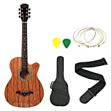 #9: Zabel ZBTR08 Acoustic Guitar With Truss Rod Combo With Bag, Strap, One Pack Strings And 3 Picks