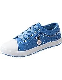 Scothen Damen Mädchen Schuhe Sneakers Turnschuhe Klassische Low Top Sneaker Sportschuhe  Textil Schuhe Hoch Sneaker 627fd99645