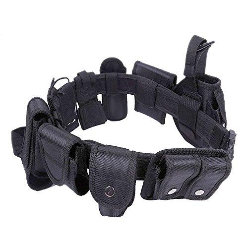 Enjoygoeu Cinturone Tattico Militare di Utilità Attrezzi della Polizia Cinturone Cintura Tattica Regolabile e Rimovibile con Sacchetto per Sicurezza Allenamento all\'aperto