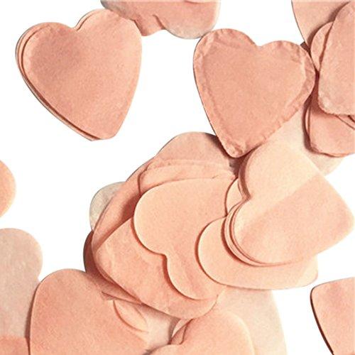 Mini Paper Hearts Konfetti Party Hochzeit Baby Dusche Tisch Dekoration pfirsich