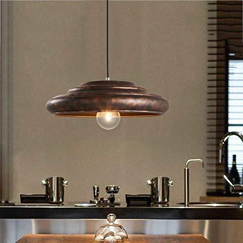 AOLI Retro Nostalgische Metall Hängelampe Amerikanischen Land Persönlichkeit Loft Pendelleuchte E27 Industriellen Stil Deckenleuchte Wohnzimmer Restaurant Bar Kreative Schmiedeeisen Pendelleuchte -
