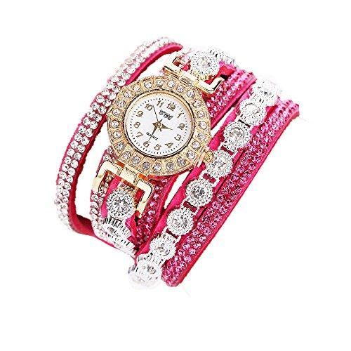 Sunnywill CCQ Damen Schöne Mode Design Strass Armband für Weibliche (HotPink)