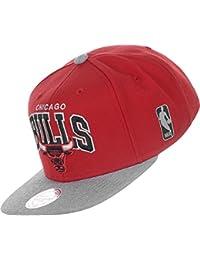Mitchell & Ness Forward Line Snapback CHICAGO BULLS Rot Grau