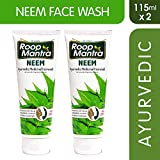 Roop Mantra Neem Face Wash 115ml, Pack of 2, Purifying Neem Facewash for Acne & Pimples, Anti Bacterial Face Wash