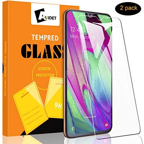 A-VIDET Panzerglas für Samsung Galaxy A40 Vollschutz-mit Ultra-Stärke Ultra-klare Transparenz Schutzfolie Bildschirmfolie für Samsung Galaxy A40 (2 Stück)