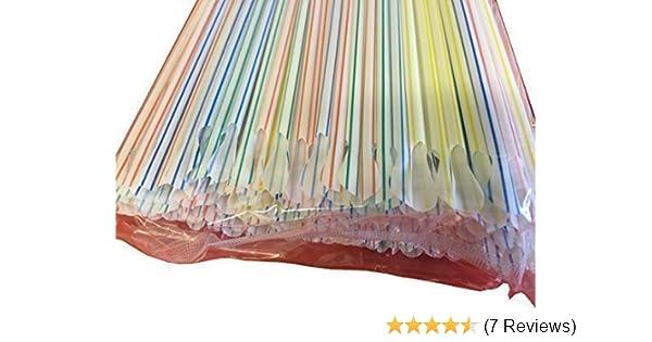 "400 Jumbo Spoon Straws Multi Color 8/"" Smoothie-Slushie-Shake  Free Ship US Only"