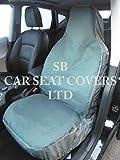 Fundas de asiento de coche Citroen C4Grand Picasso de lienzo impermeable gris 2frentes solo