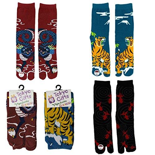 [Vigo Socks] Flip Flop Socks 3 Pairs Set, Sandal Tabi Socks (EU 39~ 43/ US 7- 10/ UK 6.5~ 8.5, J Set)
