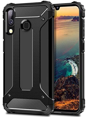 Coolden Samsung Galaxy A40 2019 Hülle, Premium [Armor Serie] Outdoor Stoßfest Handyhülle Samsung A40 Schutzhülle Case Doppelschichter Tough Silikon TPU + PC Bumper Cover (Schwarz)