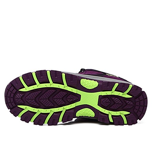 Suetar Scarpe da Trekking da Escursionismo Moda Uomo/Donna Scarpe da Arrampicata all'aperto Impermeabili e Antiscivolo e durevoli Purple