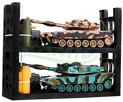 Infra Rossi Battle Tank Set Abrams vs T90 - 2 pezzi del set serbatoi -remote controllato con il suono e la luce - armoROSSO Set - Panzer serbatoio auto modello militare 01:28 - 360 Pezzi Set
