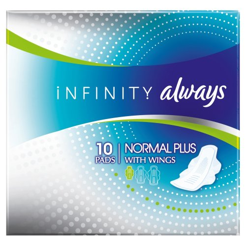 always-infinity-serviettes-normal-plus-avec-ailettes-x-10-lot-de-2