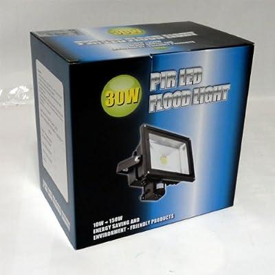 50 W LED Fluter Strahler PIR Bewegungsmelder KALTWEISS IP44 von Dyntronic GmbH auf Lampenhans.de