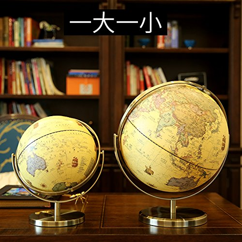 Kleine Weltkugel Anhänger (XOYOYO Die Europäischen Und Amerikanischen Modell Weltkugel Wohnzimmer Dekoration Dekoration Wohnungseinrichtung Kreativ-Studie, Einer Großen Und Einer Kleinen)
