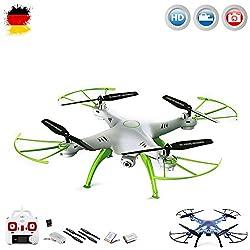 X5HC PRO - 4.5-Kanal Drohne Quadrocopter mit HD Kamera, Höhenbarometer, Headless, opt. WIFI FPV, 2x Akku, Zubehör, Crash-Kit