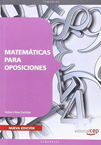 Matemáticas para oposiciones por Isidoro Nisa Escobar