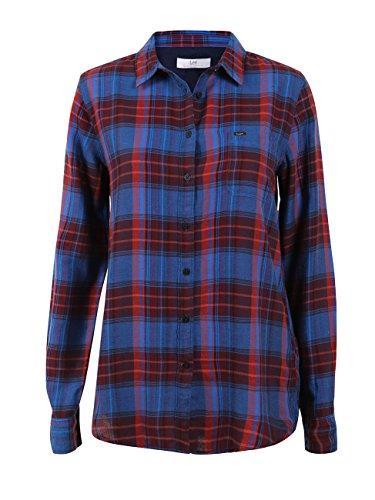 Lee Damen Freizeithemd One Pocket Shirt Twill Check, Größe:XS, Farbe:Medival Blue (13) -