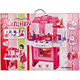 Little Chef Kitchen Set Toys - Battery Operated Kitchen Set For Kids Girls With A Carry Case