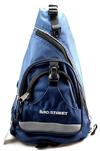 NB24 Bag Street Bodybag, navy, blau, Rucksack (4033), ca. 45 x 32 x 13 cm, mit Reißverschluss, Freizeittasche Sporttasche