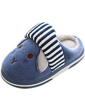 XFentech Unisex Kleinkind Baumwolle Schuhe Plüsch Winter Wärme Hausschuhe Kinder Baby Mädchen Jungen Indoor Pantoffeln
