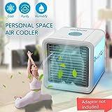 GESUNDHOME Mini Klimaanlage Ventilator,USB Klimagerät 3 in 1 Raumluftkühler, Luftbefeuchter und Luftreiniger Tragbarer