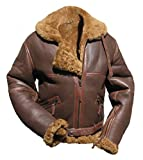 Noble House Battle of Britain Schaffell Pilotenjacke Herren Lederjacke braun (L)