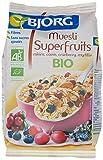 Bjorg Super Fruits Muesli aux Raisins Cassis Cranberry Myrtille Bio 375 g