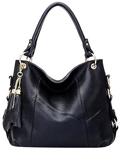 Coofit sac bandoulière cuir pu femme sac à main femme PU cuir sac épaule élégant femmes fourre tout sac cabas femme