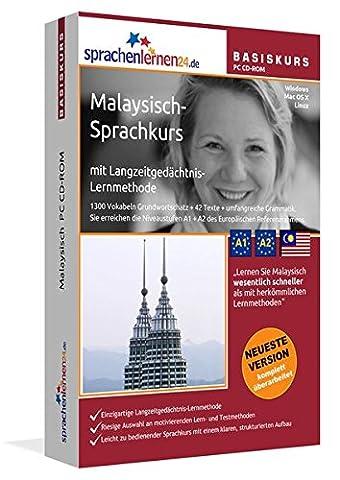 Malaysisch-Basiskurs mit Langzeitgedächtnis-Lernmethode von Sprachenlernen24.de: Lernstufen A1 + A2. Malaysisch lernen für Anfänger. Sprachkurs PC CD-ROM für Windows 8,7,Vista,XP / Linux / Mac OS X