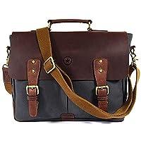 حقيبة المراسلين للرجال والنساء | حقيبة كتف مع جيوب متعددة بسحاب وحقيبة مدرسية (رمادي)