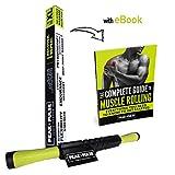 Rodillo de Masaje Muscular + FREE EBOOK – Dispositivo de Terapia Doméstica para la Liberación Miofascial y el Mejoramiento Muscular XL