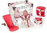 5-Teiliges Puppenzubehör Set Sweet Animals (Weiß-Rot)