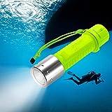 TurnRaise 1100LM LED wasserdicht Unterwassersport Tauchgang Tauchlampe Taschenlampen für Tauchen...