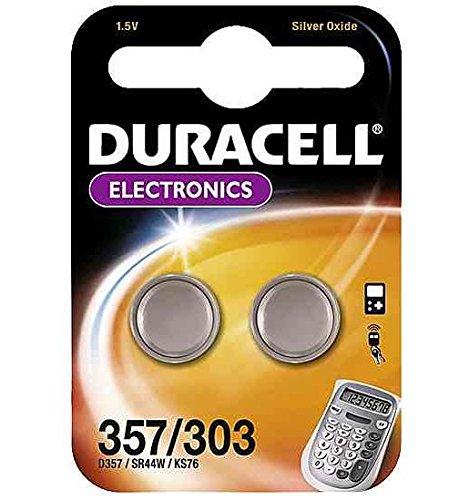 Duracell Knopfzelle Silberoxid Uhrenbatterien (SR44/357/303) 2 Stück