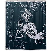 Tenda da doccia 152,4x 182,9cm, Fantasy grafico costellazione Pavo Ara Australe, a prova di muffa poliestere tessuto bagno tenda