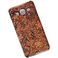 Slim Case for Samsung Galaxy J3 (2016) J320. Tasche Cover. Tooled Leather Pattern.