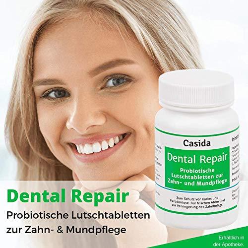Dental Repair Probiotika Lutschtabletten – Schutz vor Karies, Parodontose und Zahnfleischentzündungen – Aus der Apotheke – 60 Tabletten