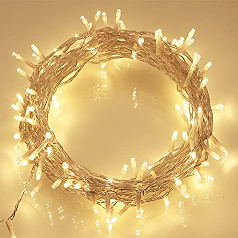 100 Leds 10M Outdoor Battery Fairy String Lights (Warm White) for Christmas Tree, Festive, Birthday, Party,