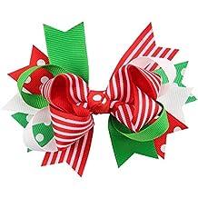 Miaomiaogo Lovely Adornos de Navidad Bowknot Hairpin Headdress Año Nuevo Decoración pelo clip para niños niñas