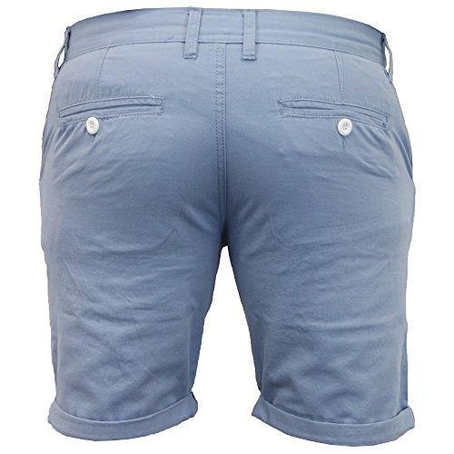 Herren Aufrollen Baumwolle Chino Shorts Blau - SB0517